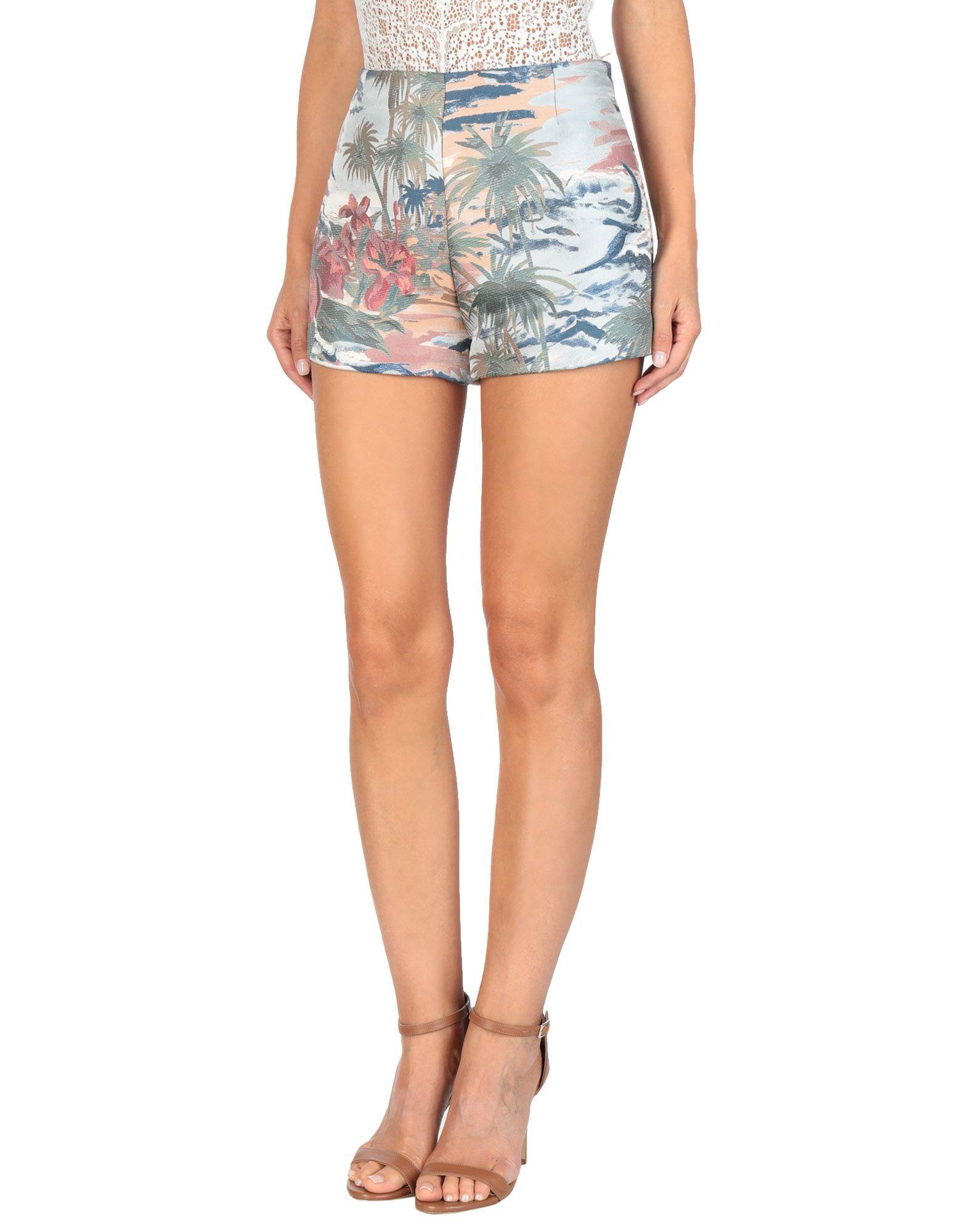 Valentino Sky Blue Silk Shorts