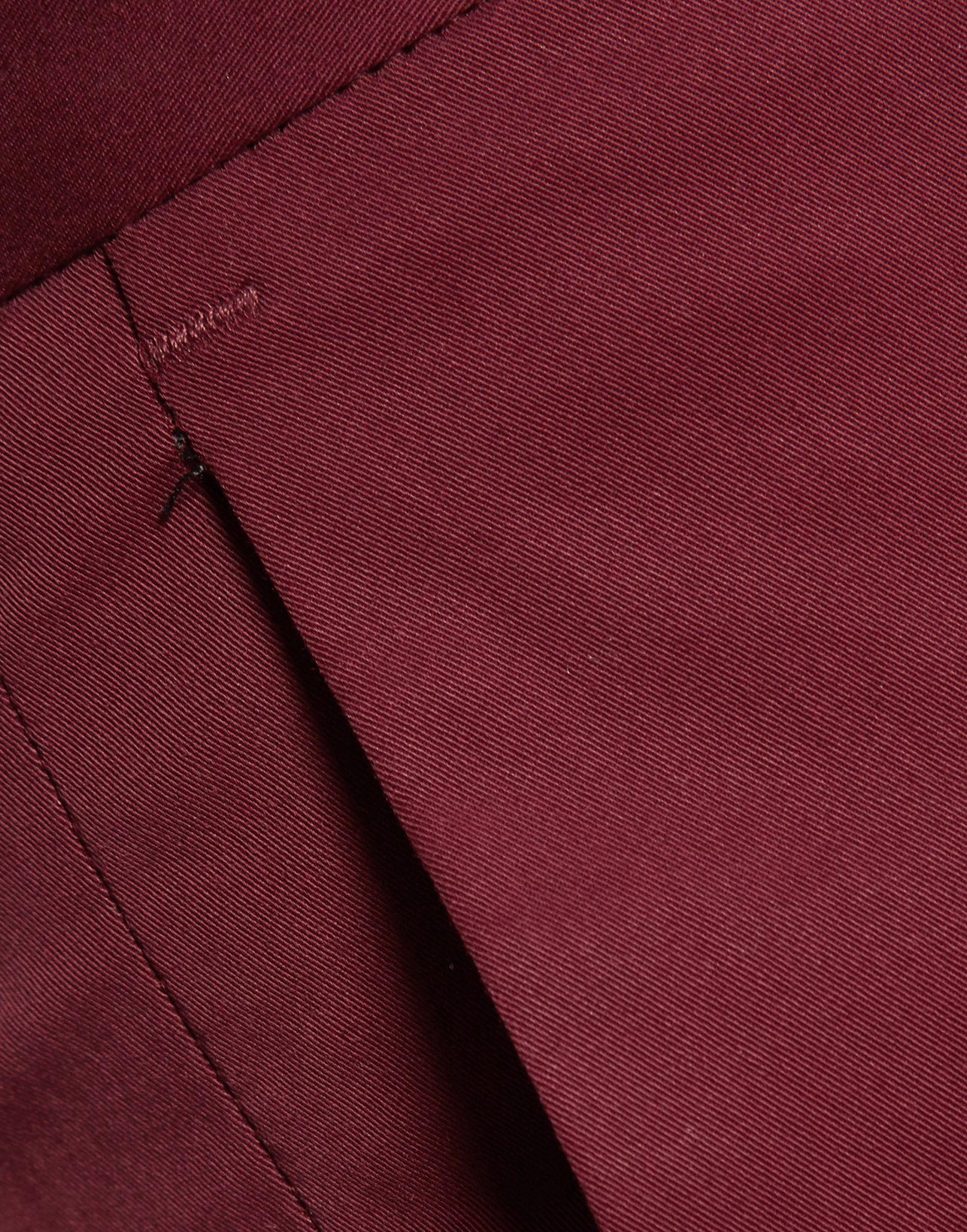 Joseph Maroon Cotton Chino Trousers