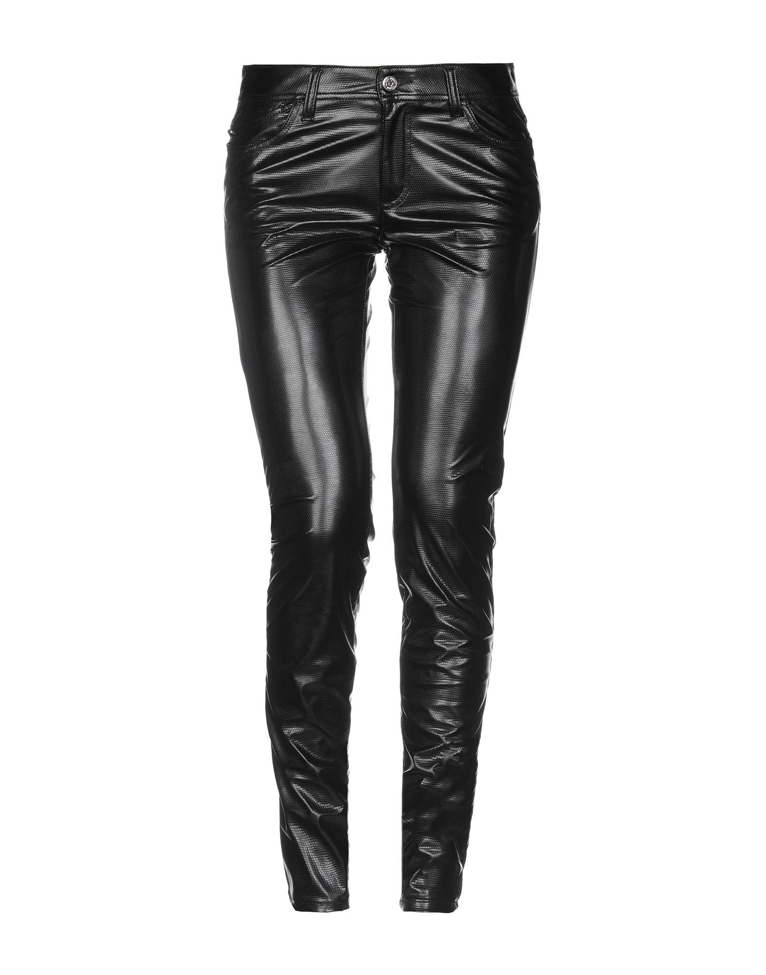 Just Cavalli Black Faux Leather Trousers