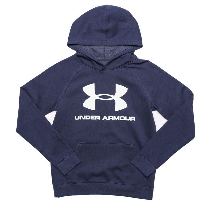Boy's Under Armour Junior UA Rival Logo Hoodie in Blue
