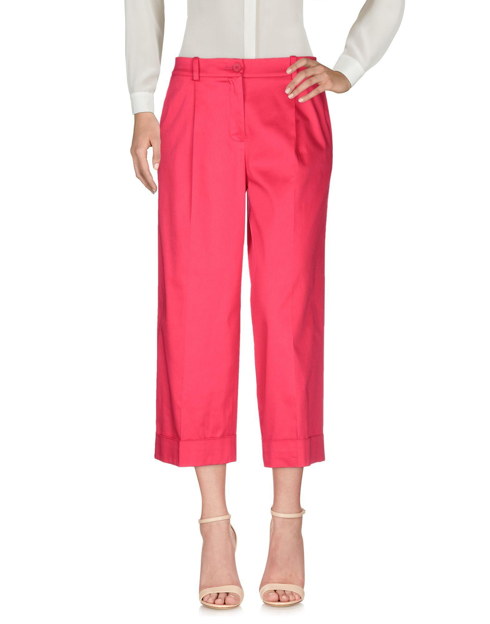 Trousers Women's P.A.R.O.S.H. Fuchsia Cotton