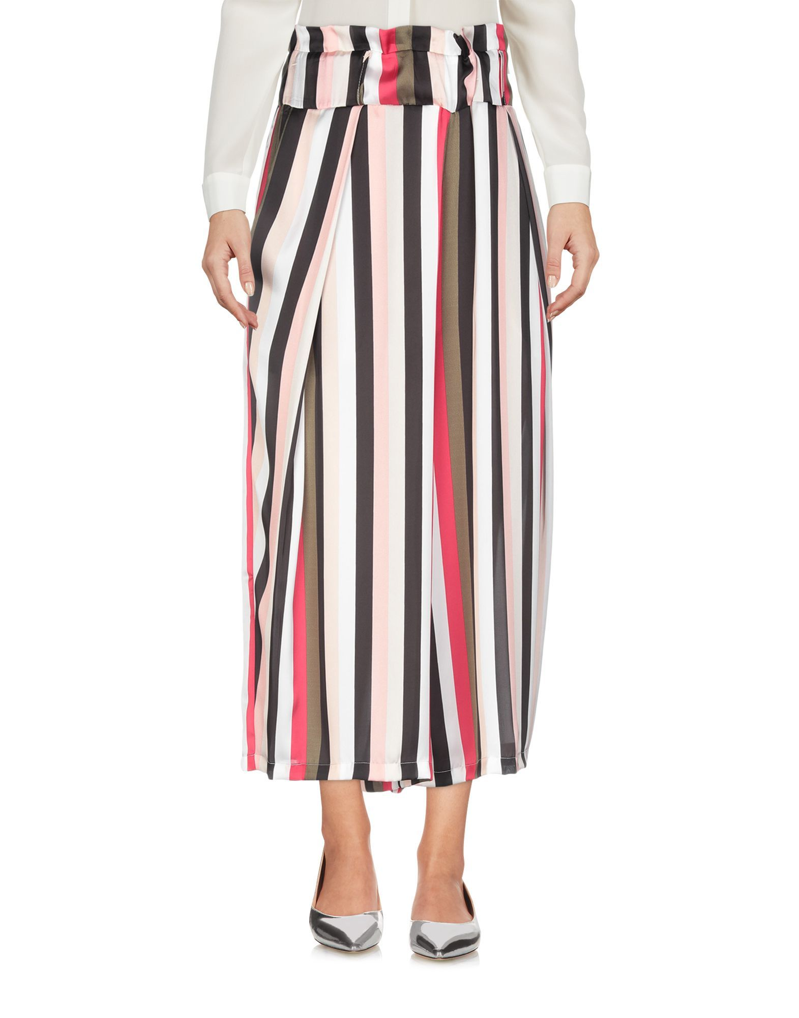 Annarita N Twenty 4H Pink Stripe High Waisted Wide Leg Trousers