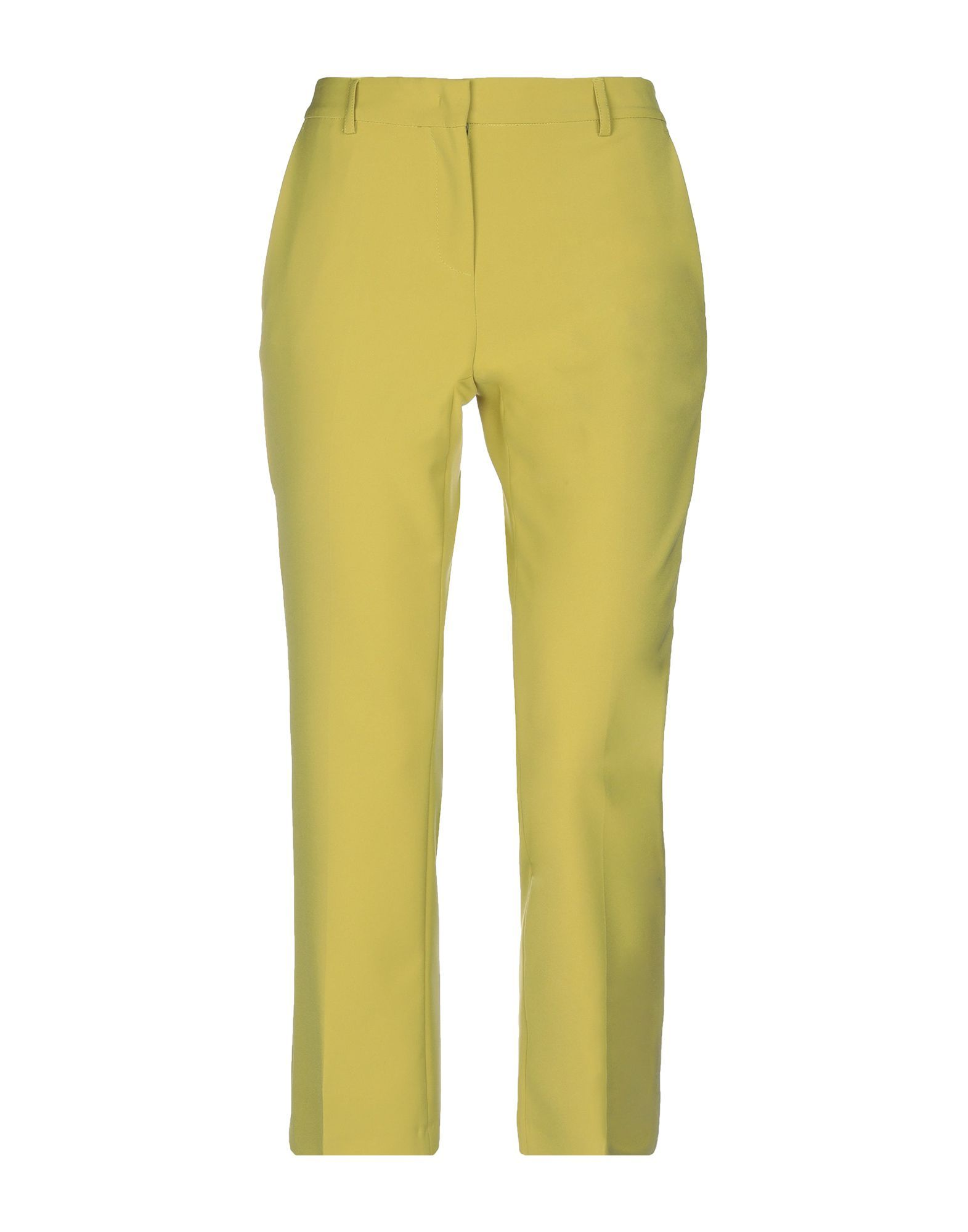 TROUSERS F.It Acid green Woman Polyester