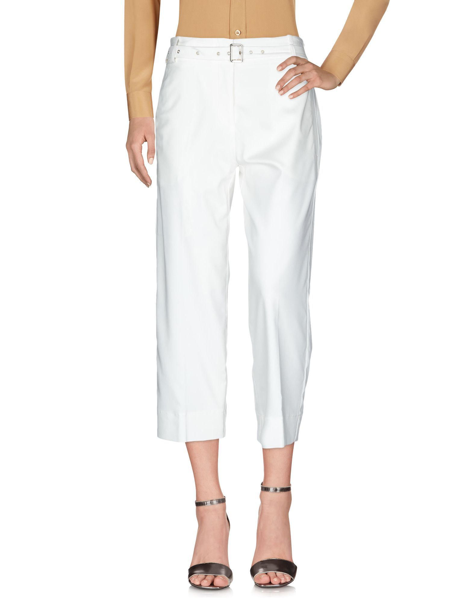 Annarita N Twenty 4H White Straight Leg Trousers