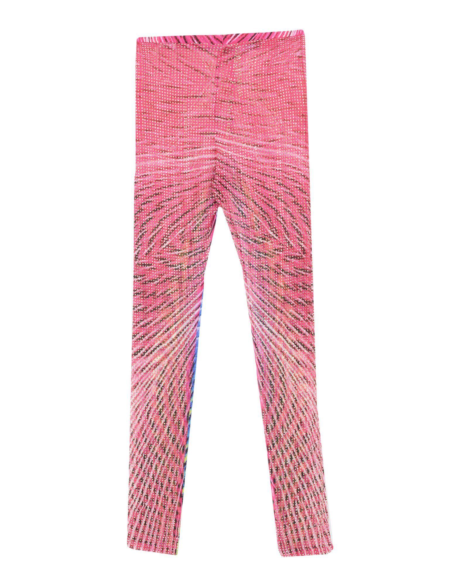 Just Cavalli Fuchsia Print Silk Leggings