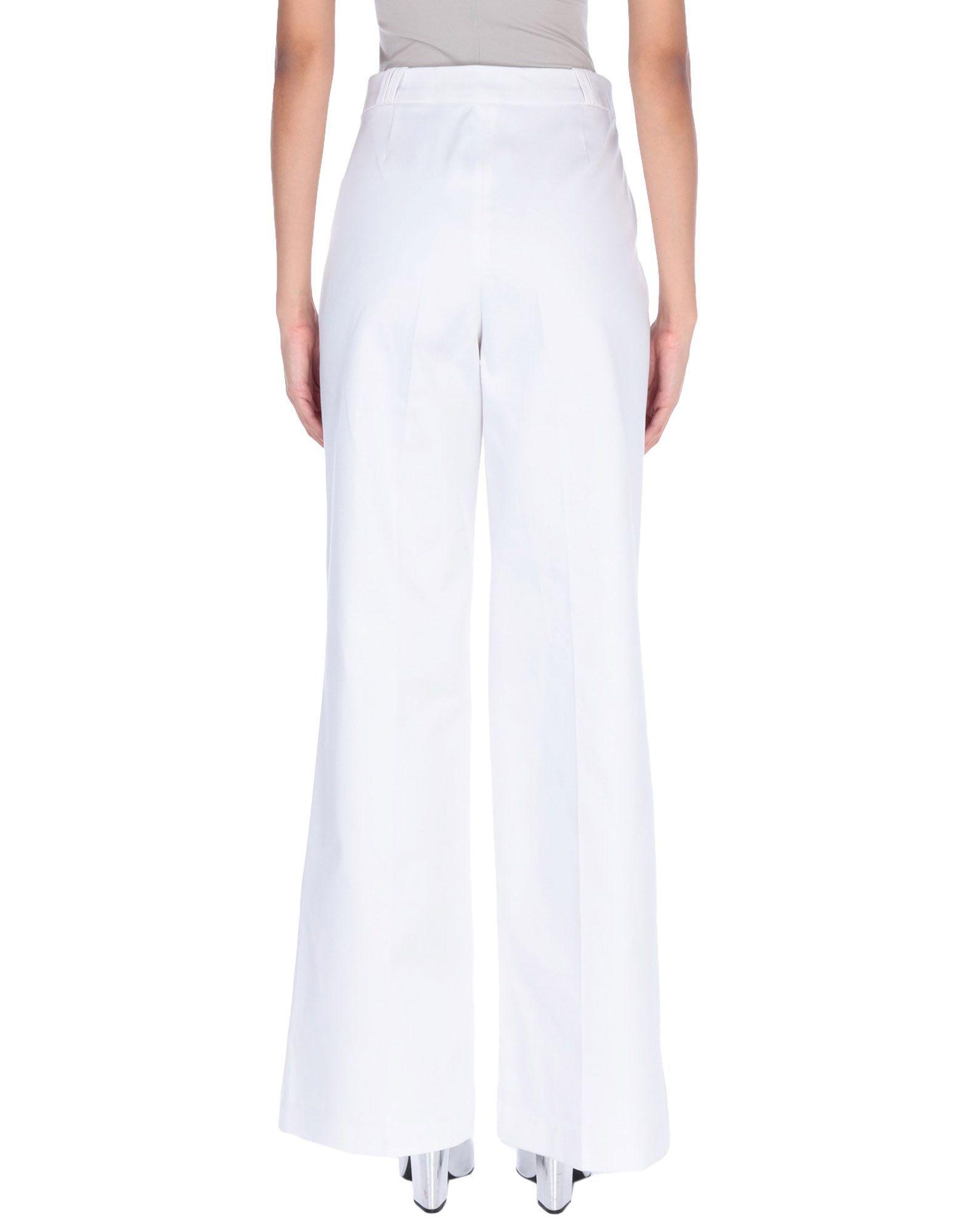 Acne Studios White Cotton Wide Leg Trousers