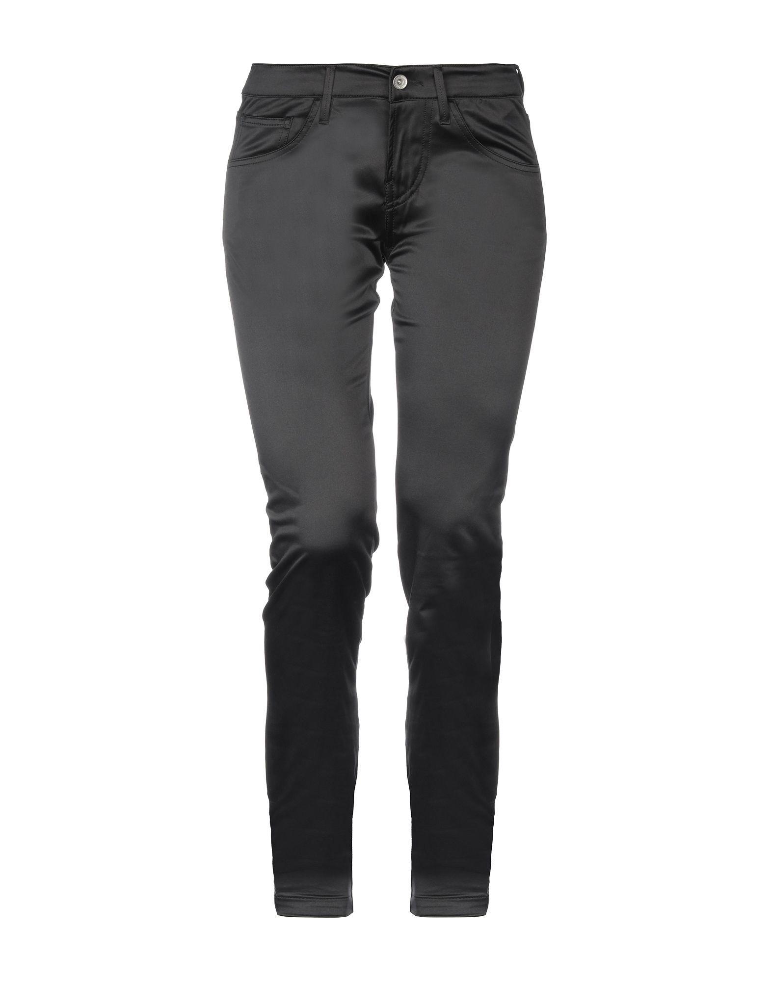 Fornarina Black Satin Tapered Leg Trousers