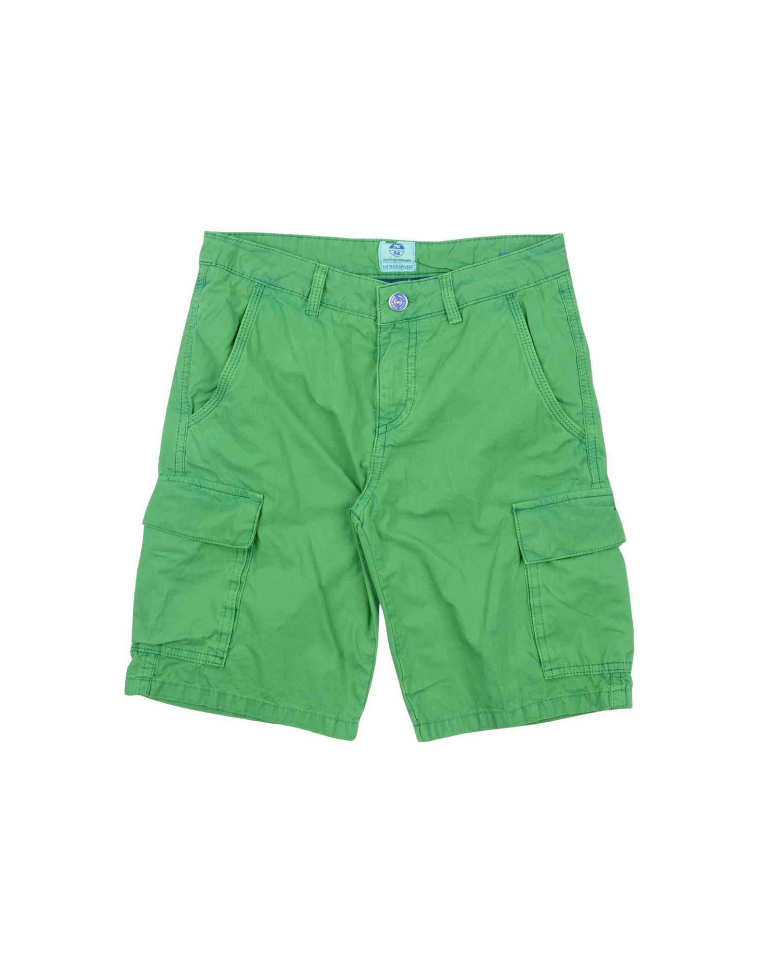 TROUSERS Boy North Sails Green Cotton