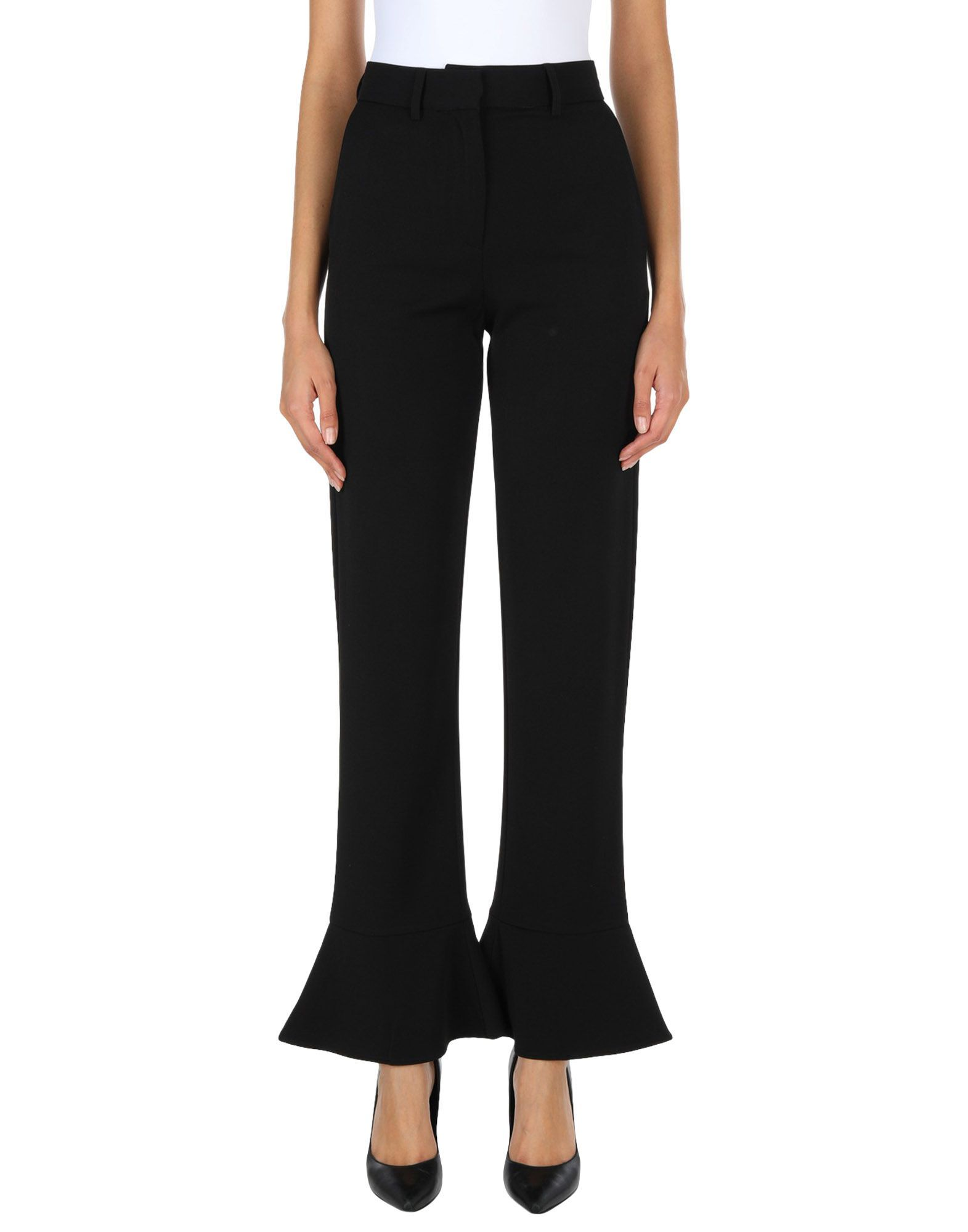 French Connection Black Kick Flare Trousers