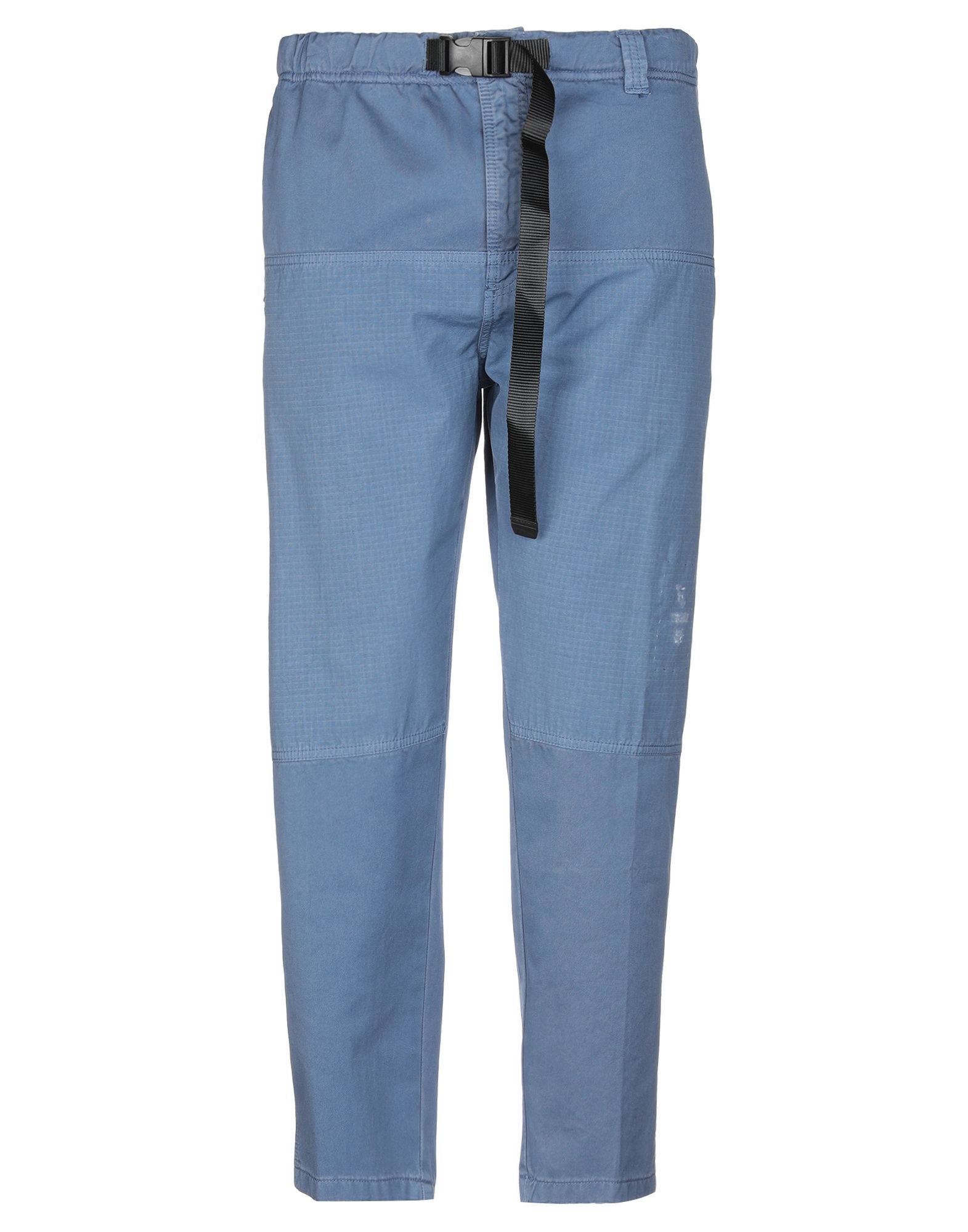 Siviglia White Slate Blue Cotton Tapered Leg Chino Trousers