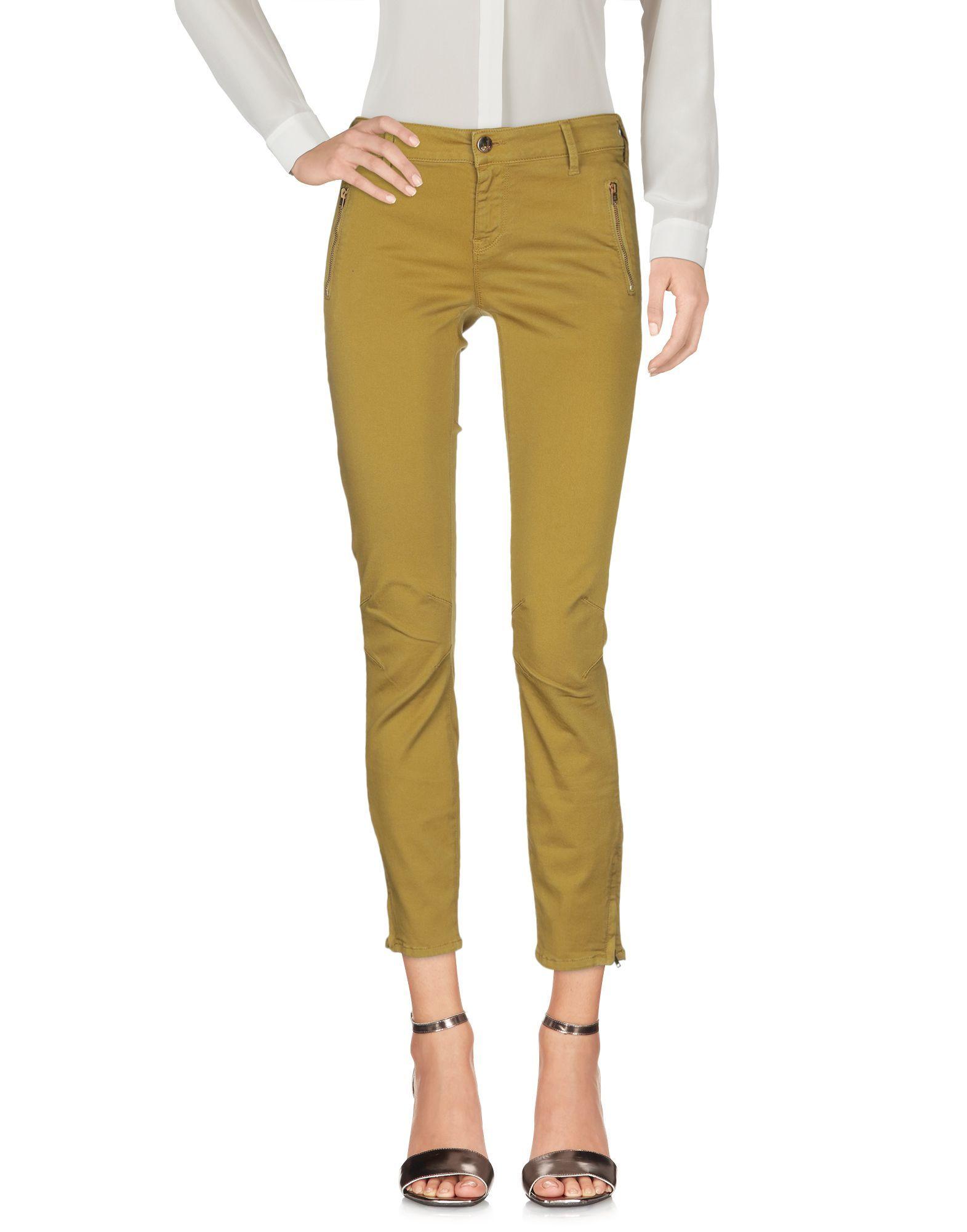 TROUSERS Woman Met Jeans Acid green Cotton
