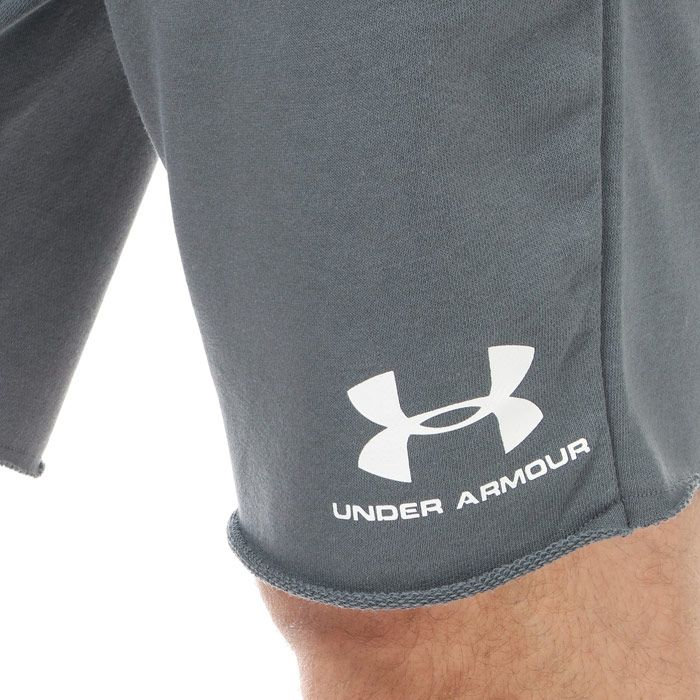 Men's Under Armour Sportstyle Terry Shorts in Grey
