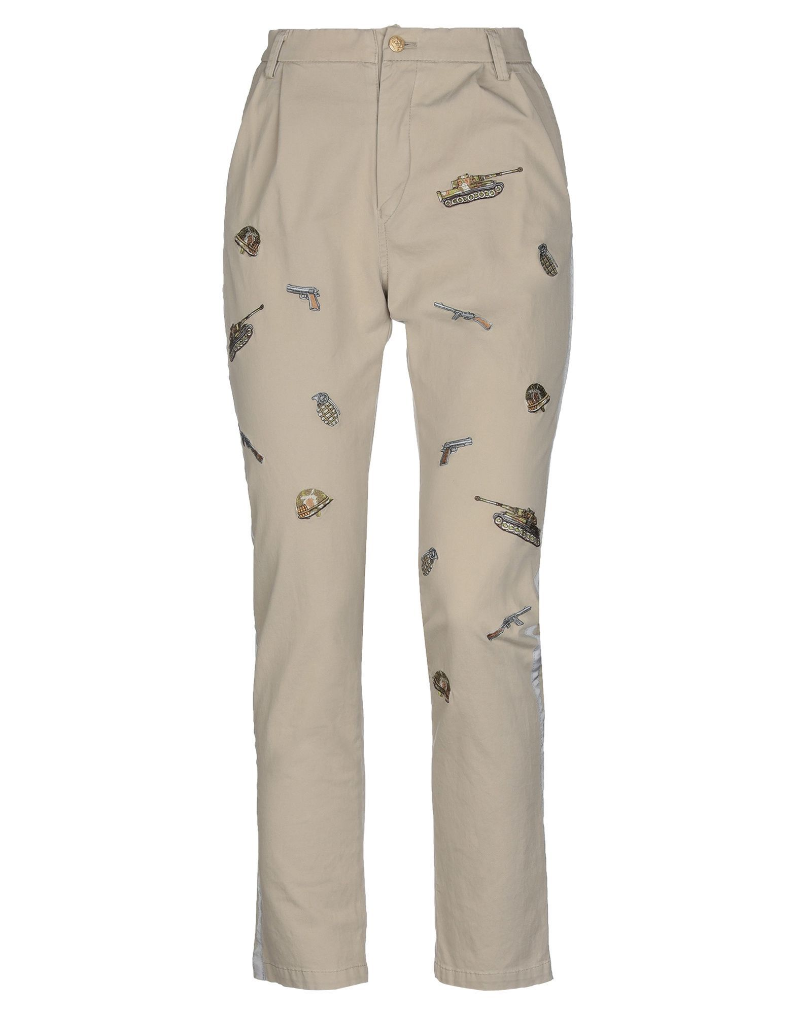 TROUSERS History Repeats Beige Woman Cotton