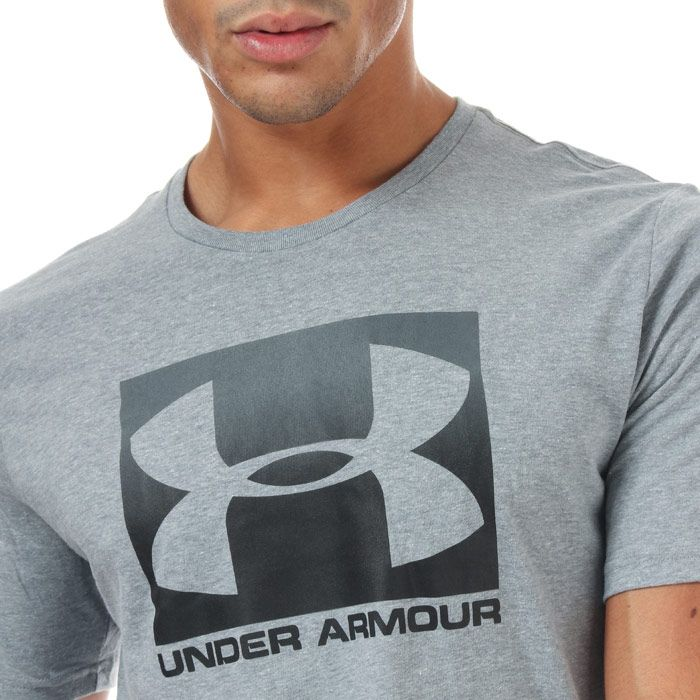 Men's Under Armour Boxed Sportstyle Short Sleeve T-Shirt in Grey