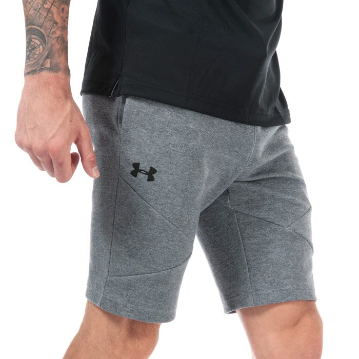 Men's Under Armour UA Unstoppable Double Knit Shorts in Grey