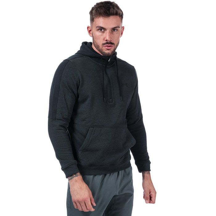 Men's Under Armour Half Zip Microthread Fleece in Black