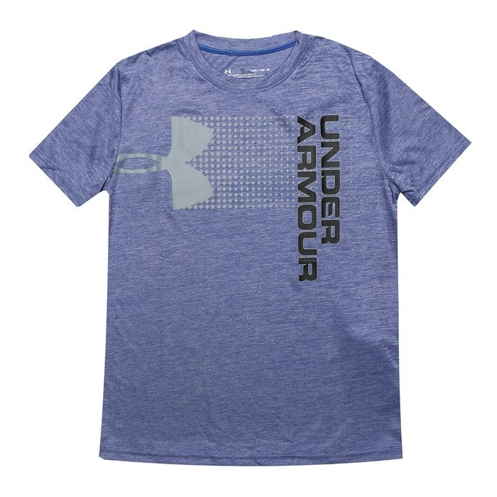 Boy's Under Armour Junior Crossfade T-Shirt in Blue