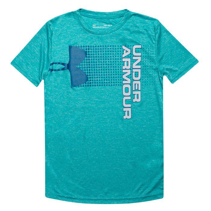 Boy's Under Armour Junior Crossfade T-Shirt in Green