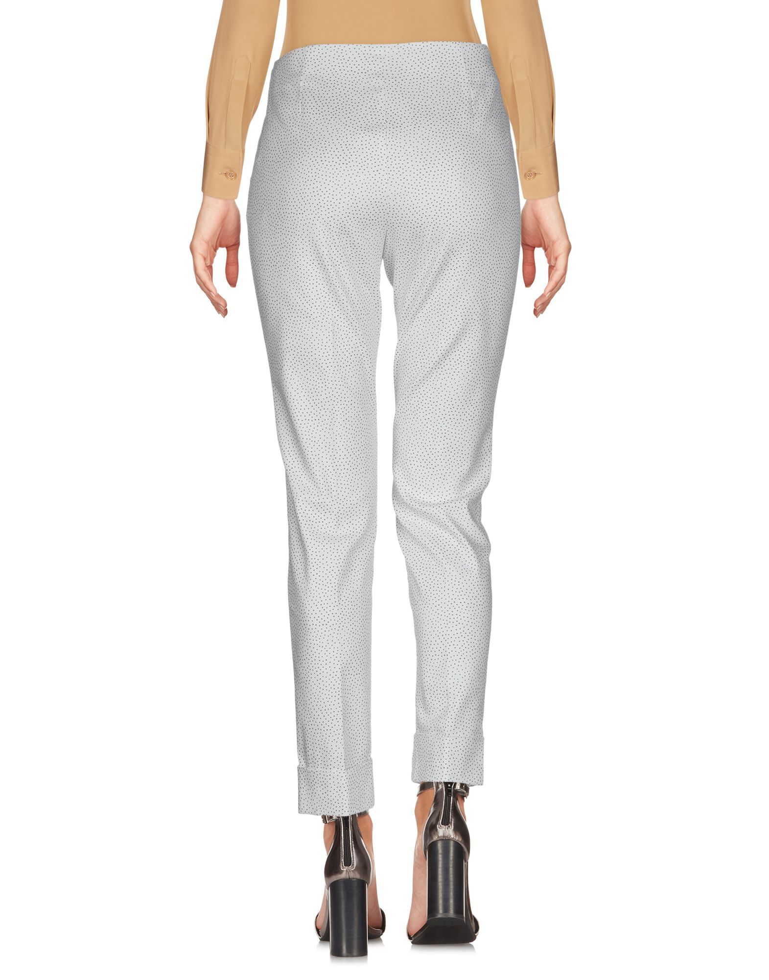 Peserico Sign White Cotton Tapered Leg Trousers