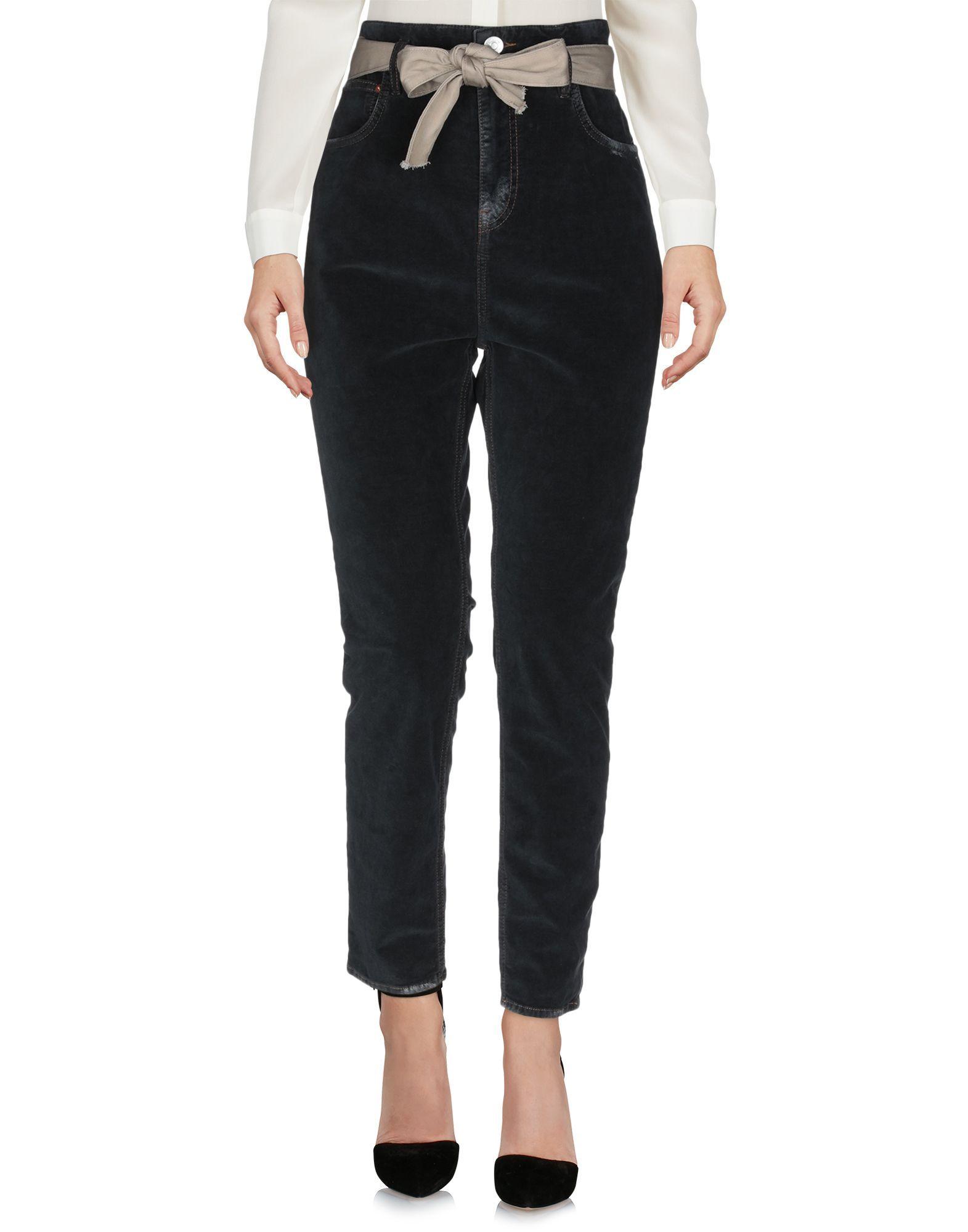 Haikure Steel Grey Cotton Chenille Tapered Leg Trousers