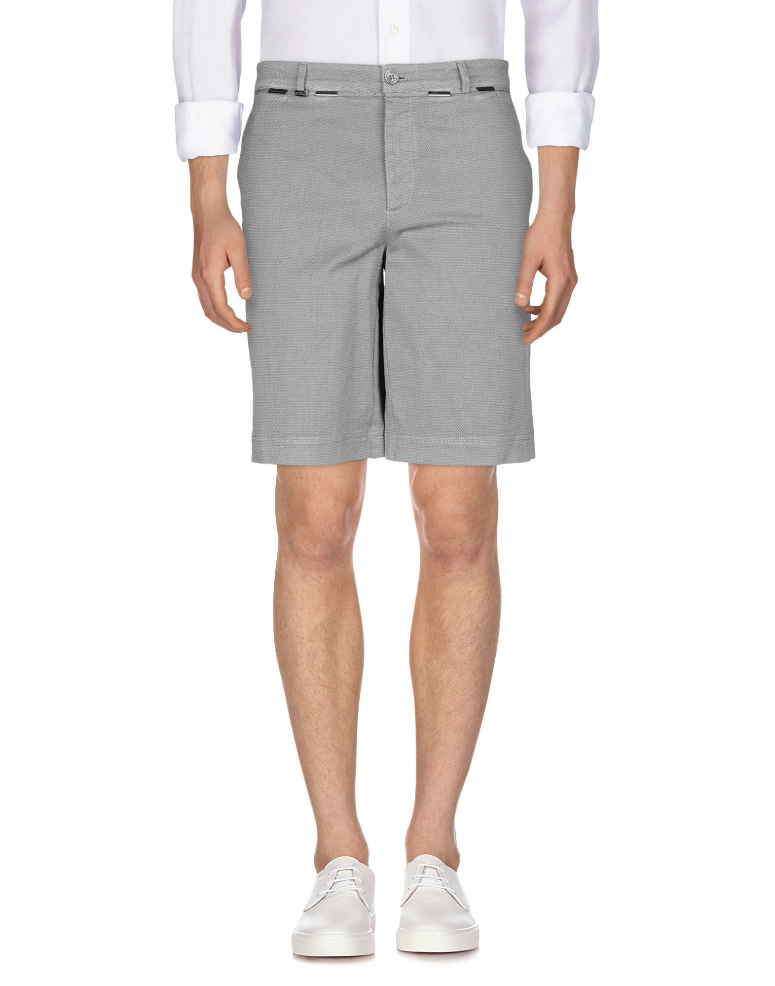 Versace Collection Grey Cotton Shorts