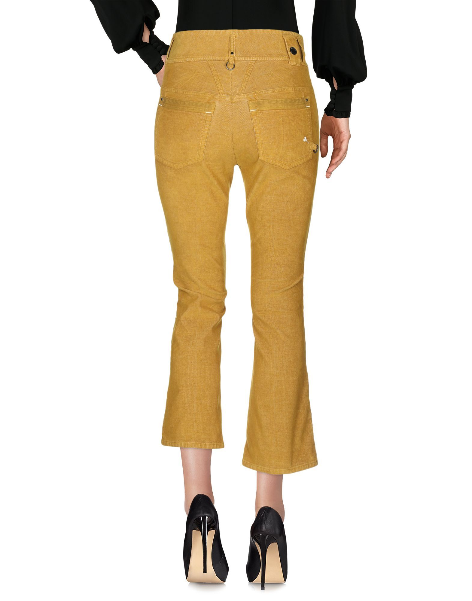 TROUSERS High By Claire Campbell Ochre Woman Cotton