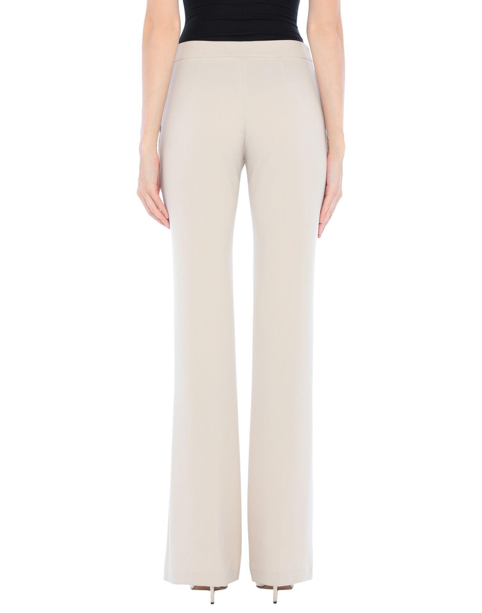 Elisabetta Franchi Beige Crepe Tailored Trousers
