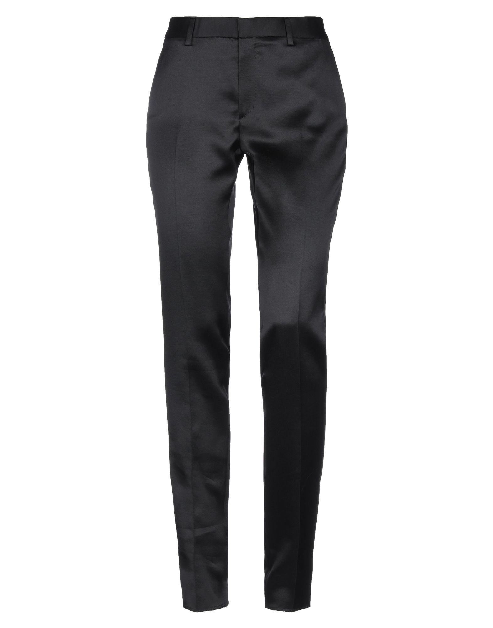 Saint Laurent Black Virgin Wool Tapered Leg Trousers