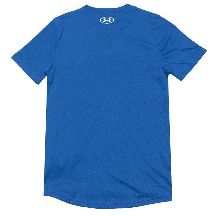 Boy's Under Armour Infant Wordmark T-Shirt in Blue
