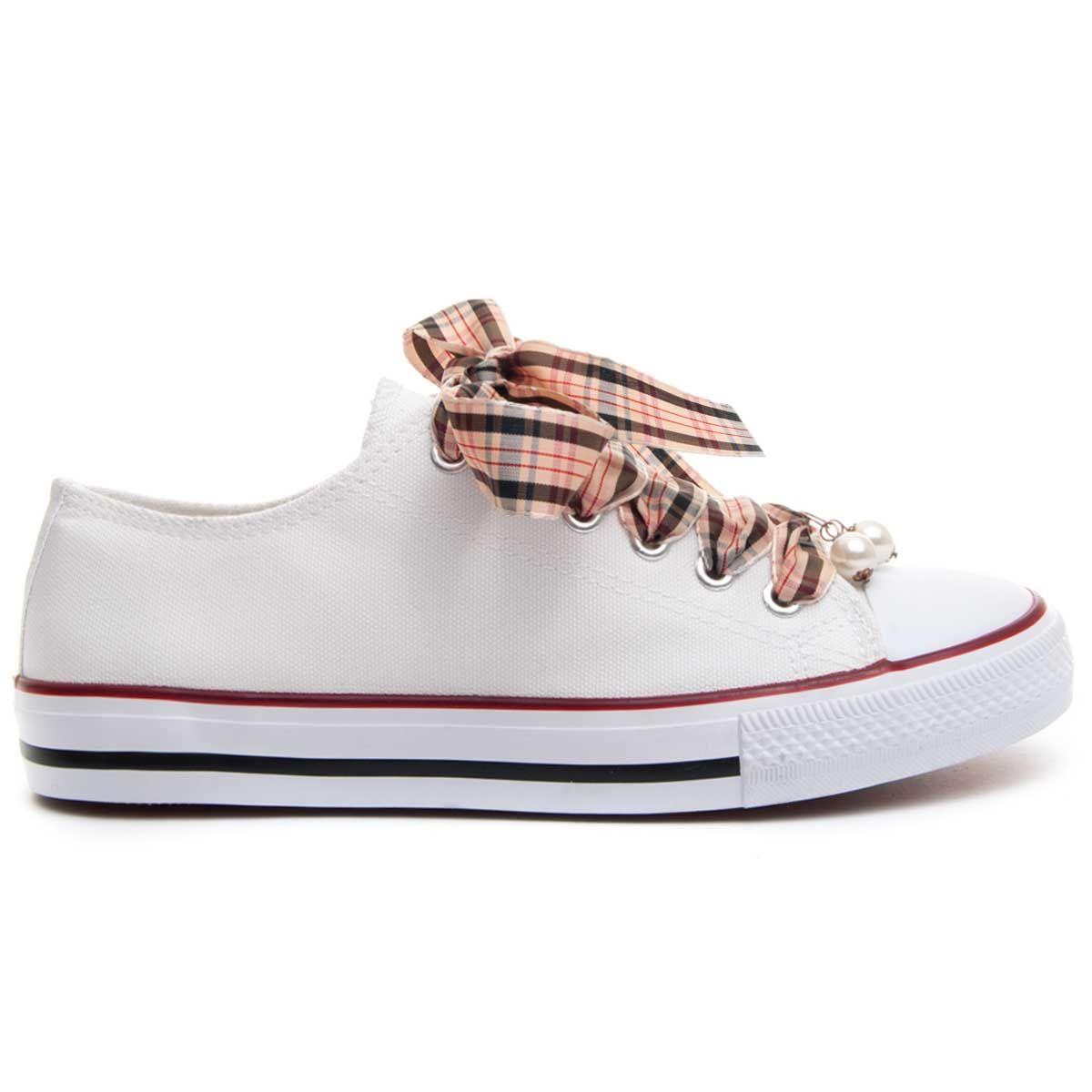 Montevita Ribbon Lace Sneaker in White