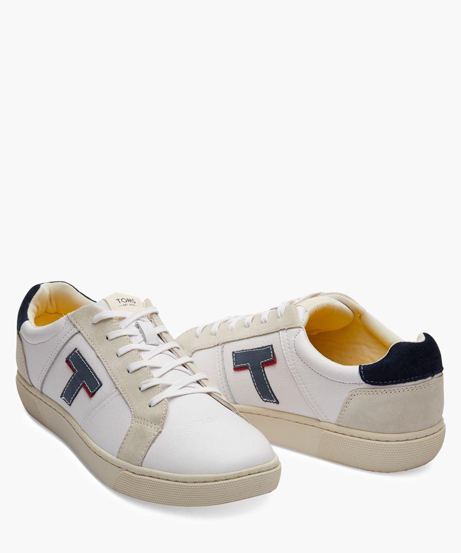 Leandro white canvas shoes