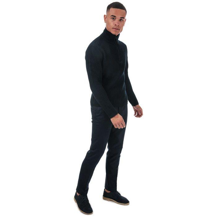 Men's Ted Baker Glentro Semi Plain Wool Trousers in Navy