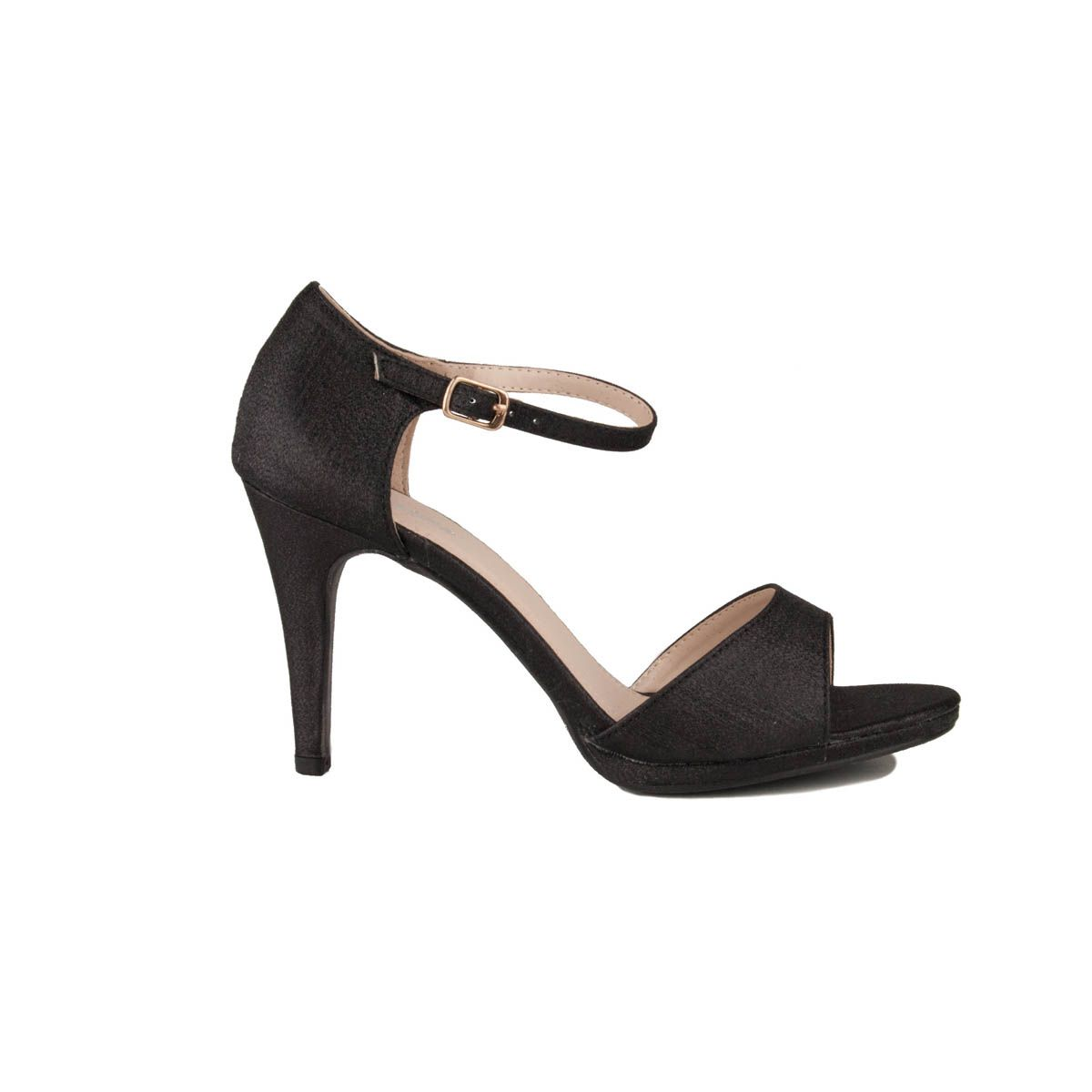 Montevita Heeled Sandal in Black