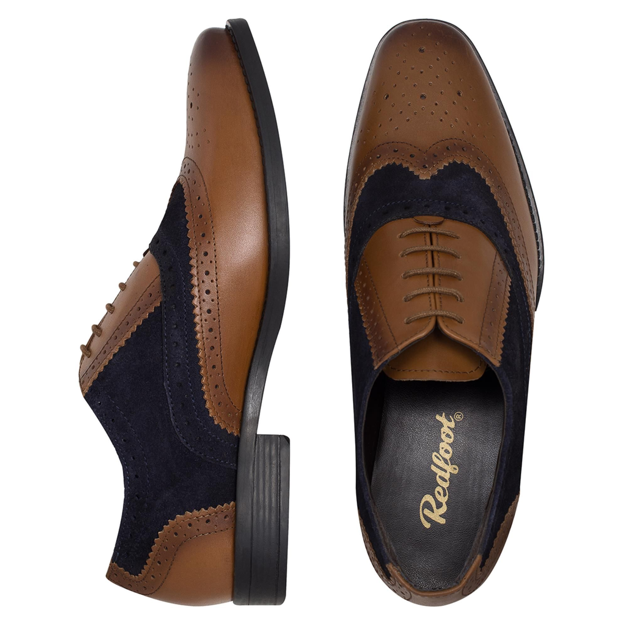 Redfoot Jay Navy & Tan