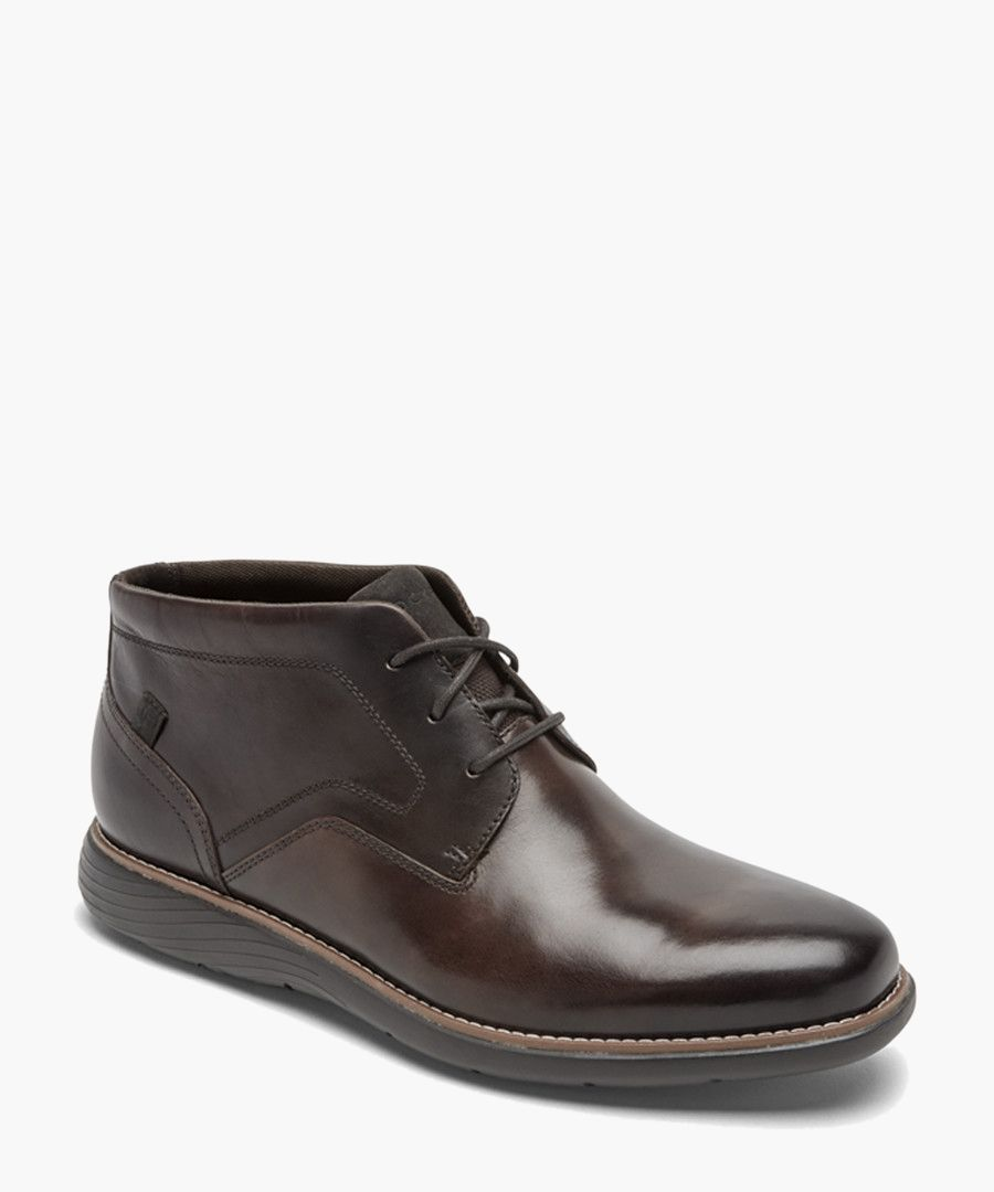 Garett dark bronw leather boots