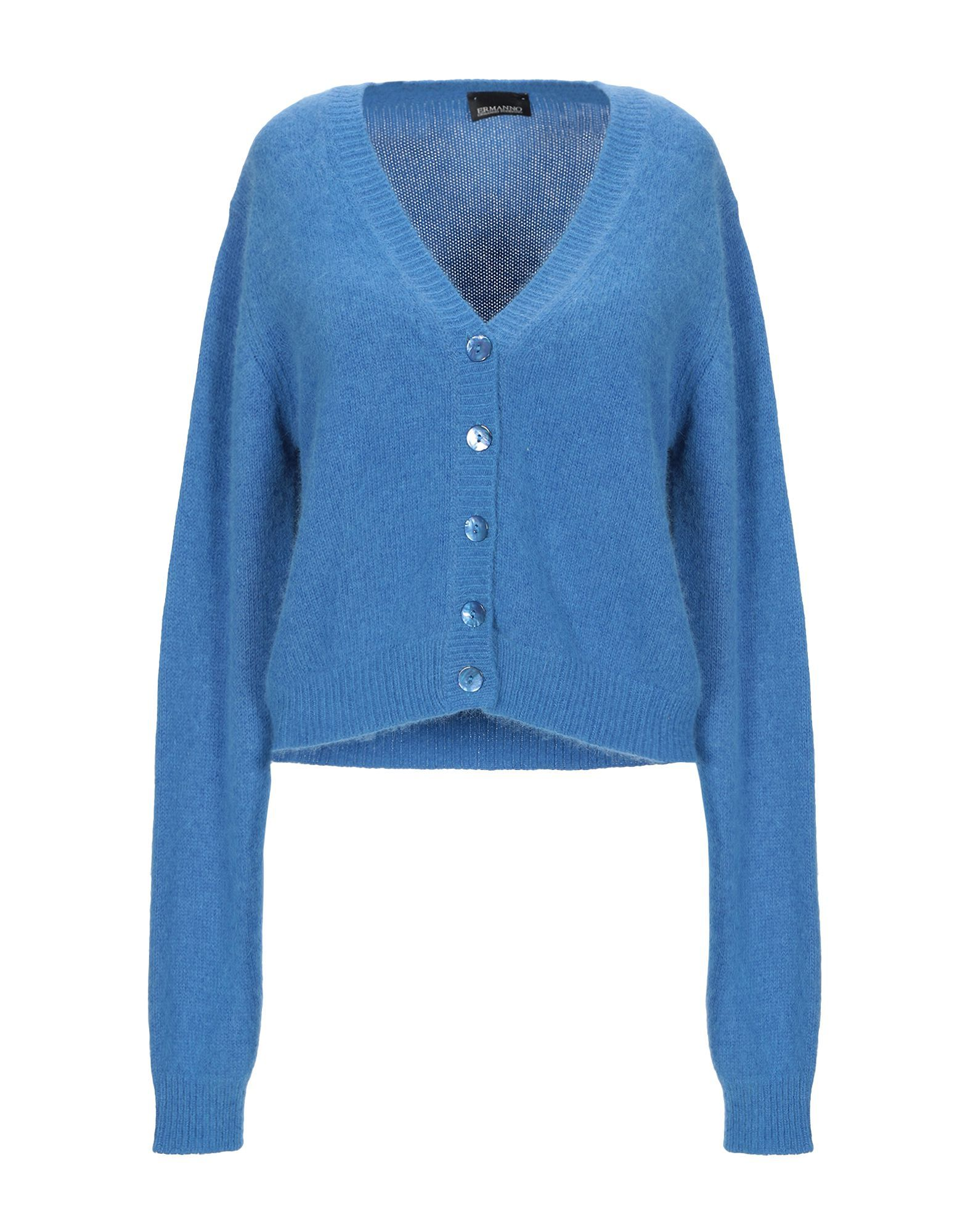 Ermanno Di Ermanno Scervino Pastel Blue Knit Cardigan