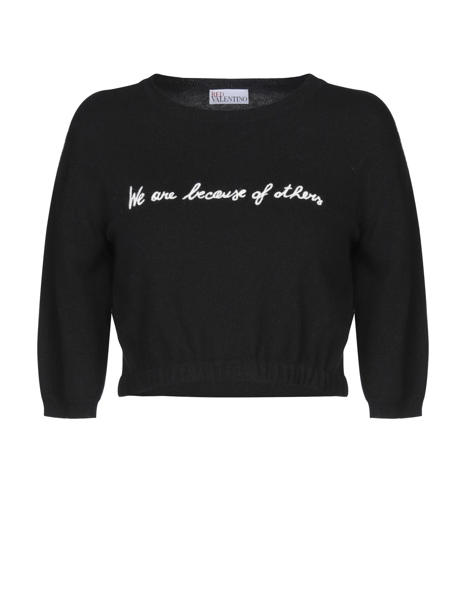 Redvalentino Black Wool Embroidered Jumper