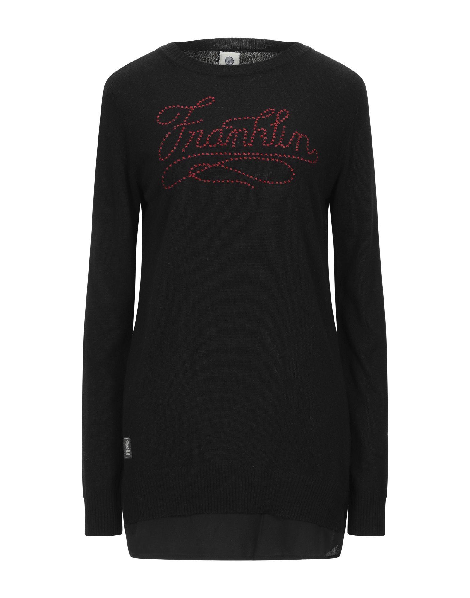 Franklin & Marshall Black Embroidered Knit Jumper