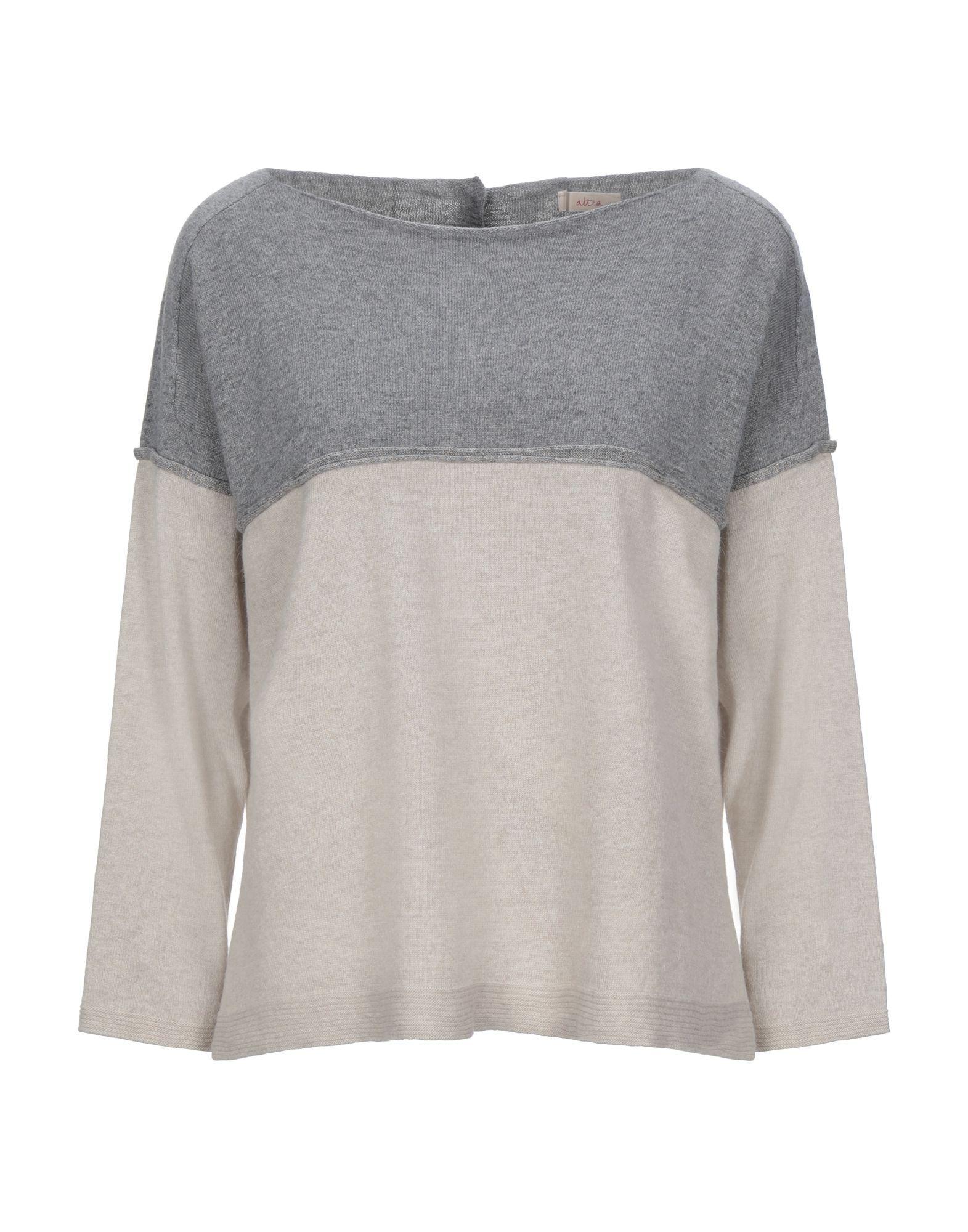 Altea Grey Virgin Wool Knit Jumper