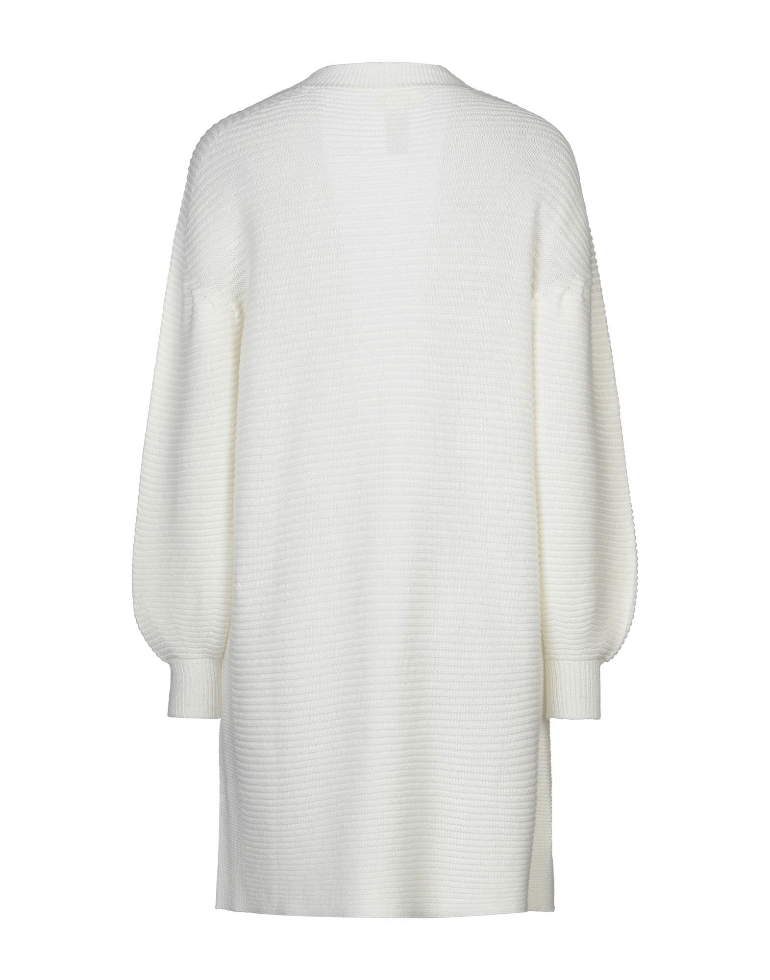 Vicolo Ivory Lightweight Knit Ribbed Cardigan