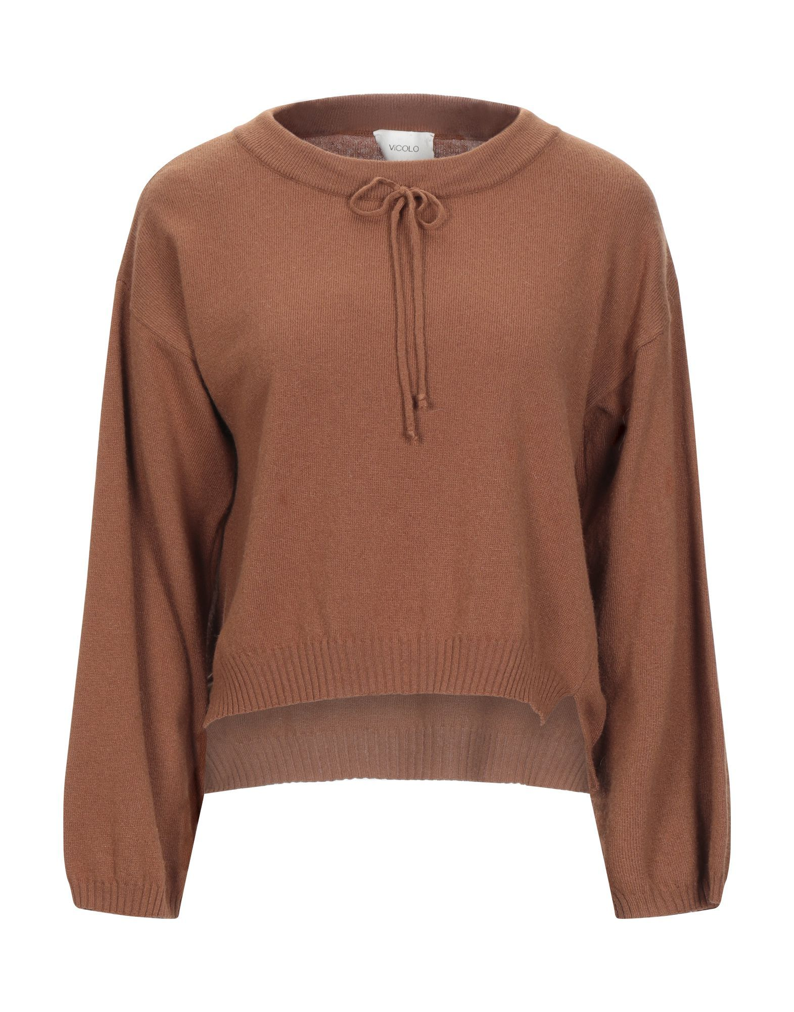 KNITWEAR Vicolo Brown Woman Viscose