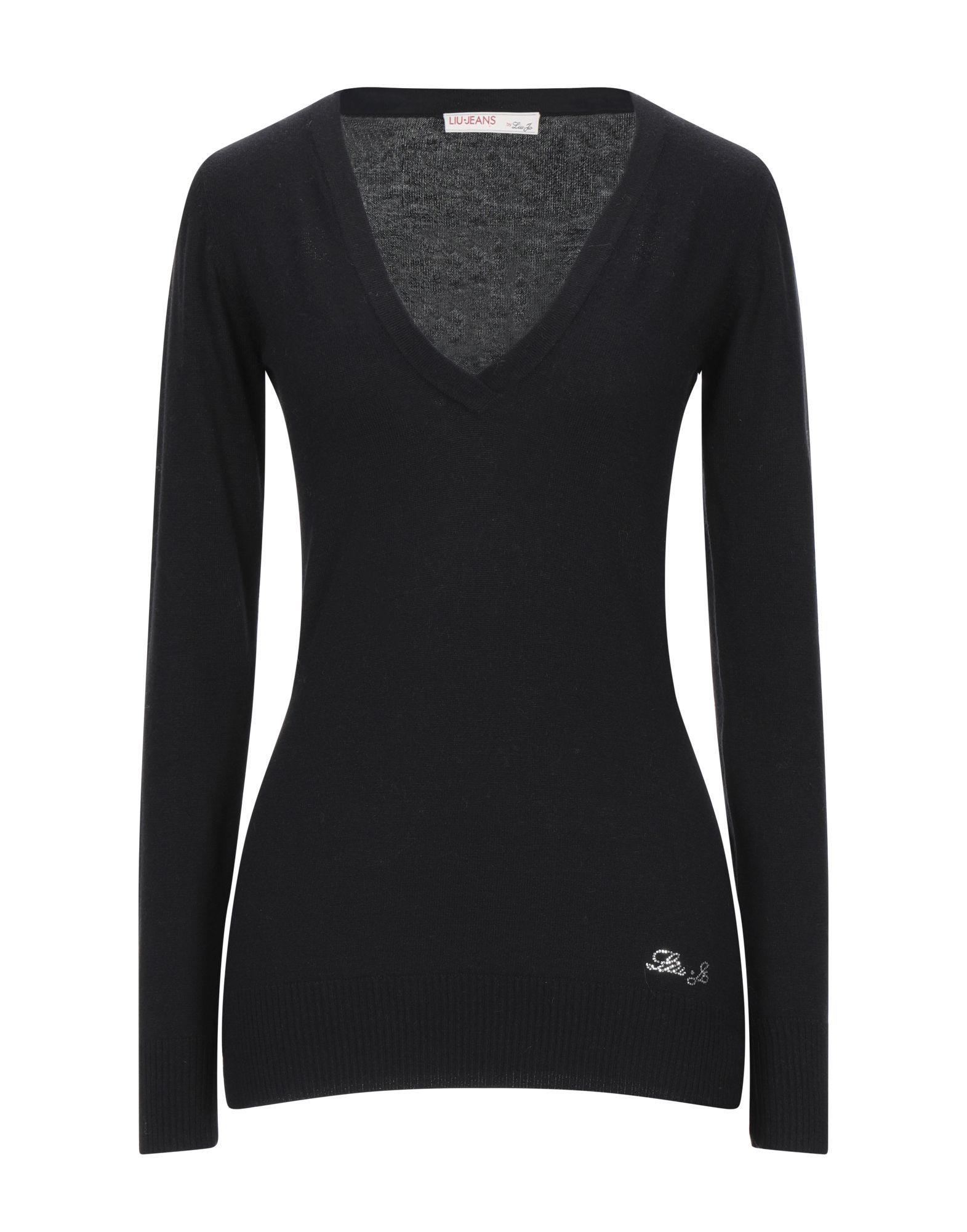 Liu Jo Black Cotton Knit Jumper