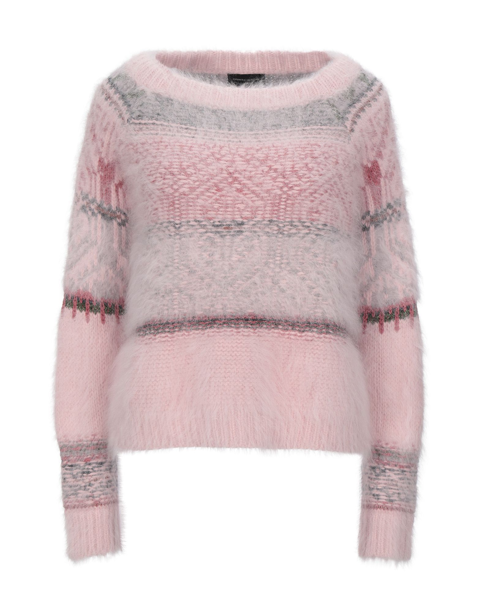 Roberto Collina Pink Stripe Angora Knit Jumper
