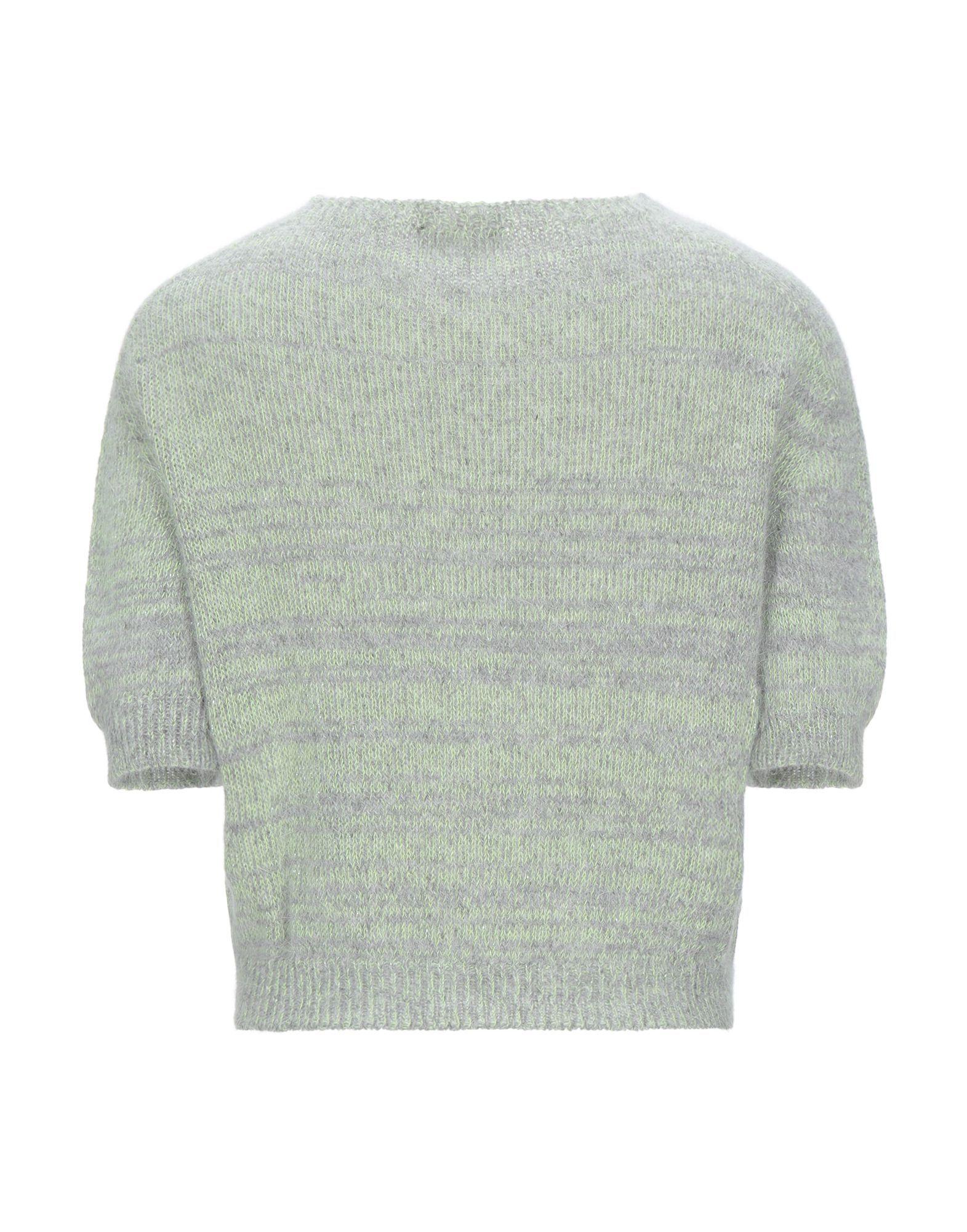 Roberto Collina Acid Green Angora Short Sleeve Knit Jumper