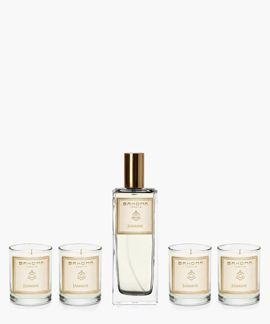 5pc Jasmine candles and room spray