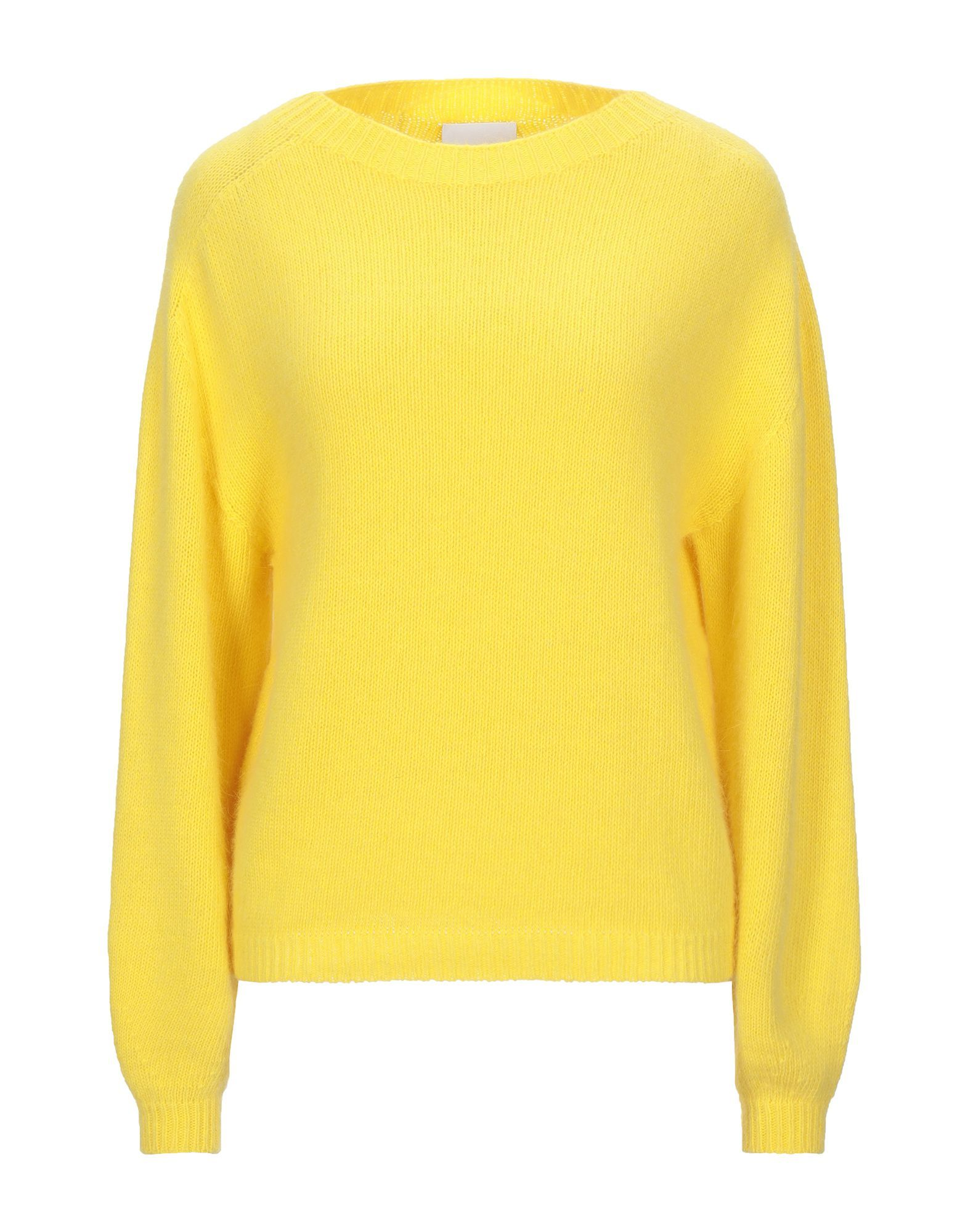 Annarita N Twenty 4H Yellow Angora Lightweight Knit Jumper