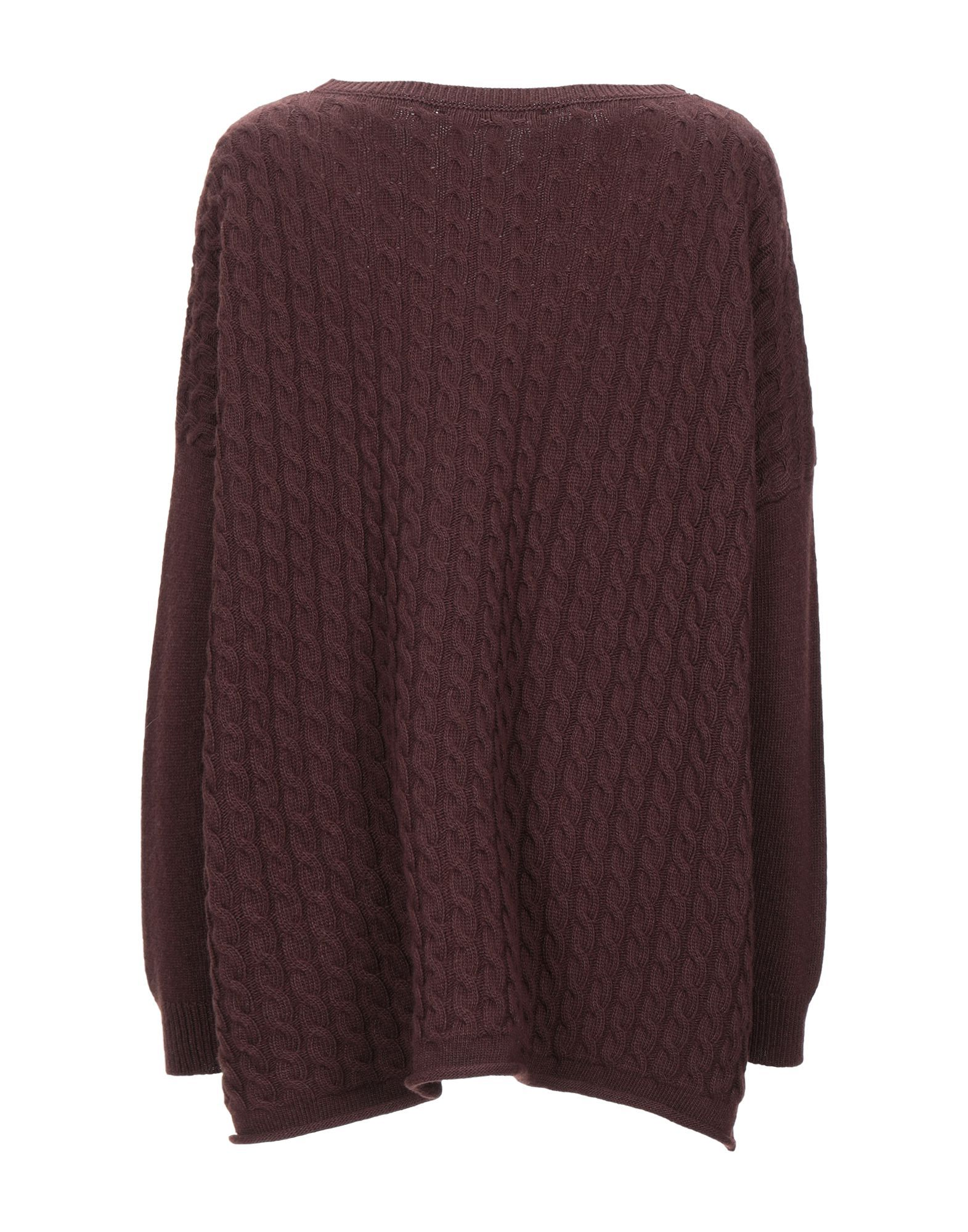 Messagerie Dark Brown Angora Cable Knit Jumper
