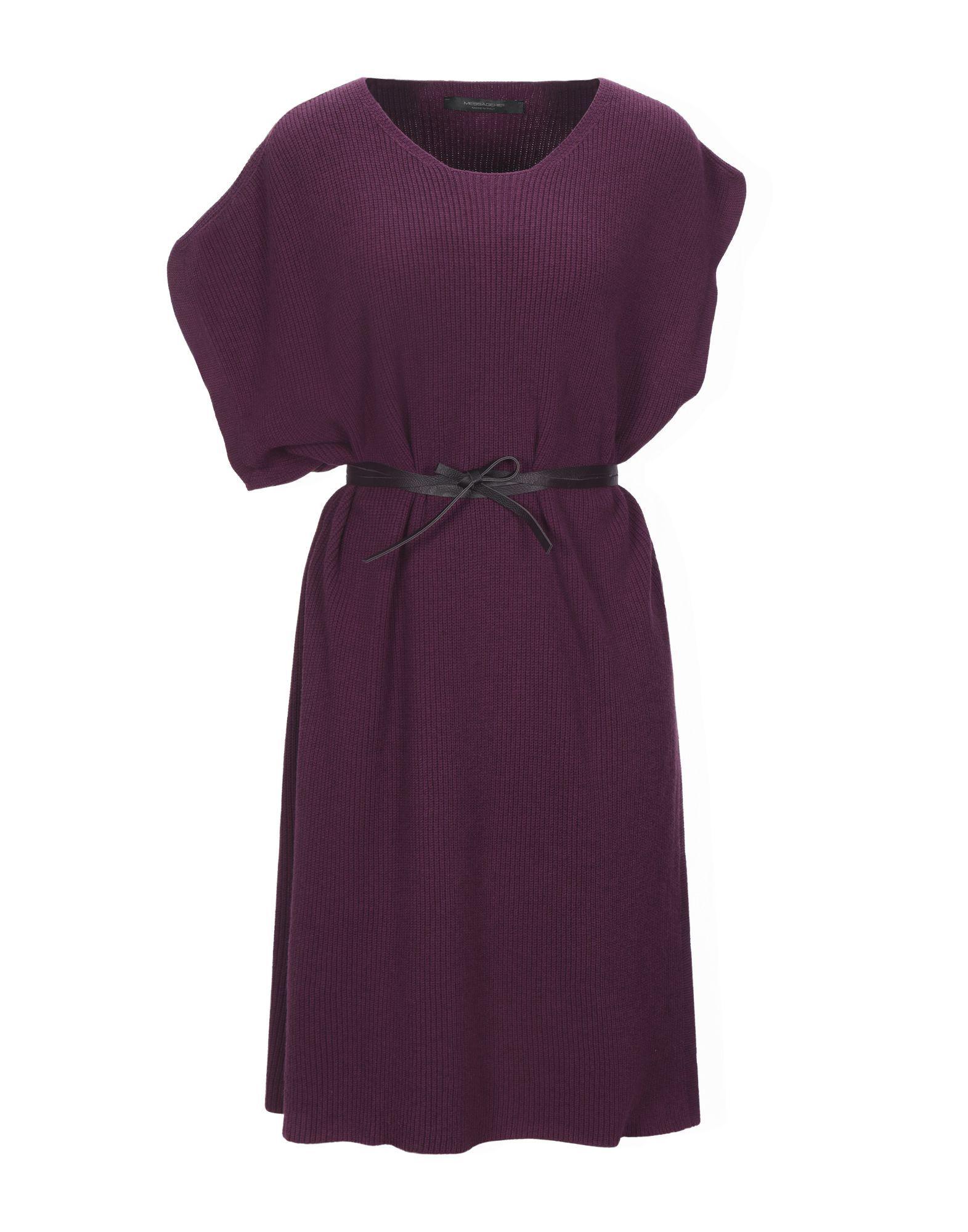 Messagerie Garnet Lightweight Cable Knit Belted Dress