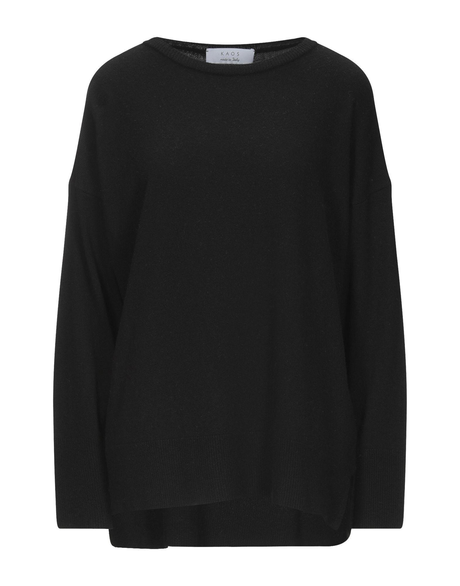 Kaos Black Lightweight Knit Jumper