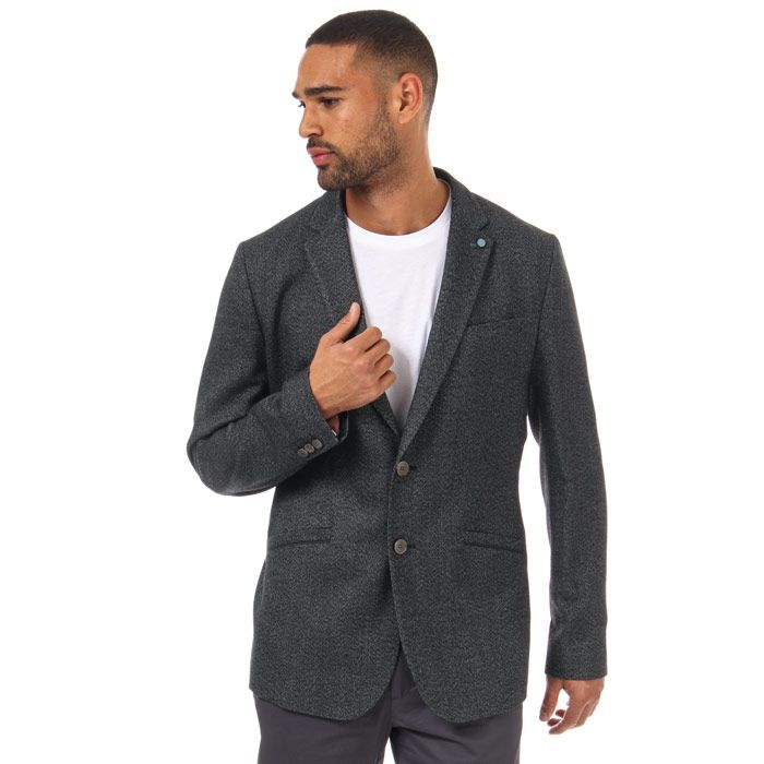 Men's Ted Baker Beek Semi Plain Jacket in Charcoal